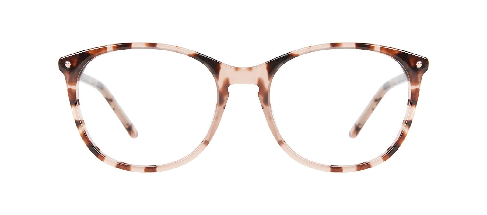 Affordable Fashion Glasses Rectangle Square Round Eyeglasses Women Nadine Pink Tortoise Front