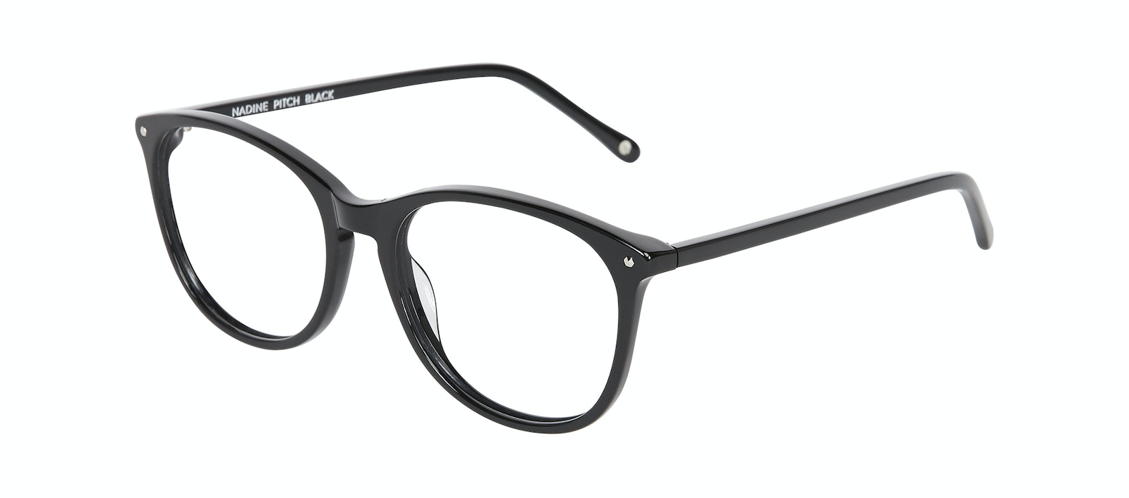 Affordable Fashion Glasses Rectangle Square Round Eyeglasses Women Nadine Pitch Black Tilt