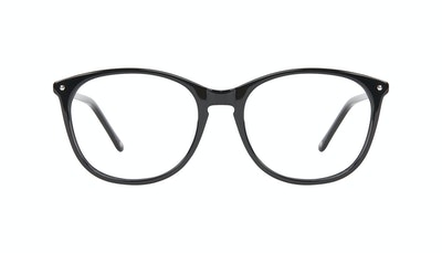 Affordable Fashion Glasses Rectangle Square Round Eyeglasses Women Nadine Pitch Black Front