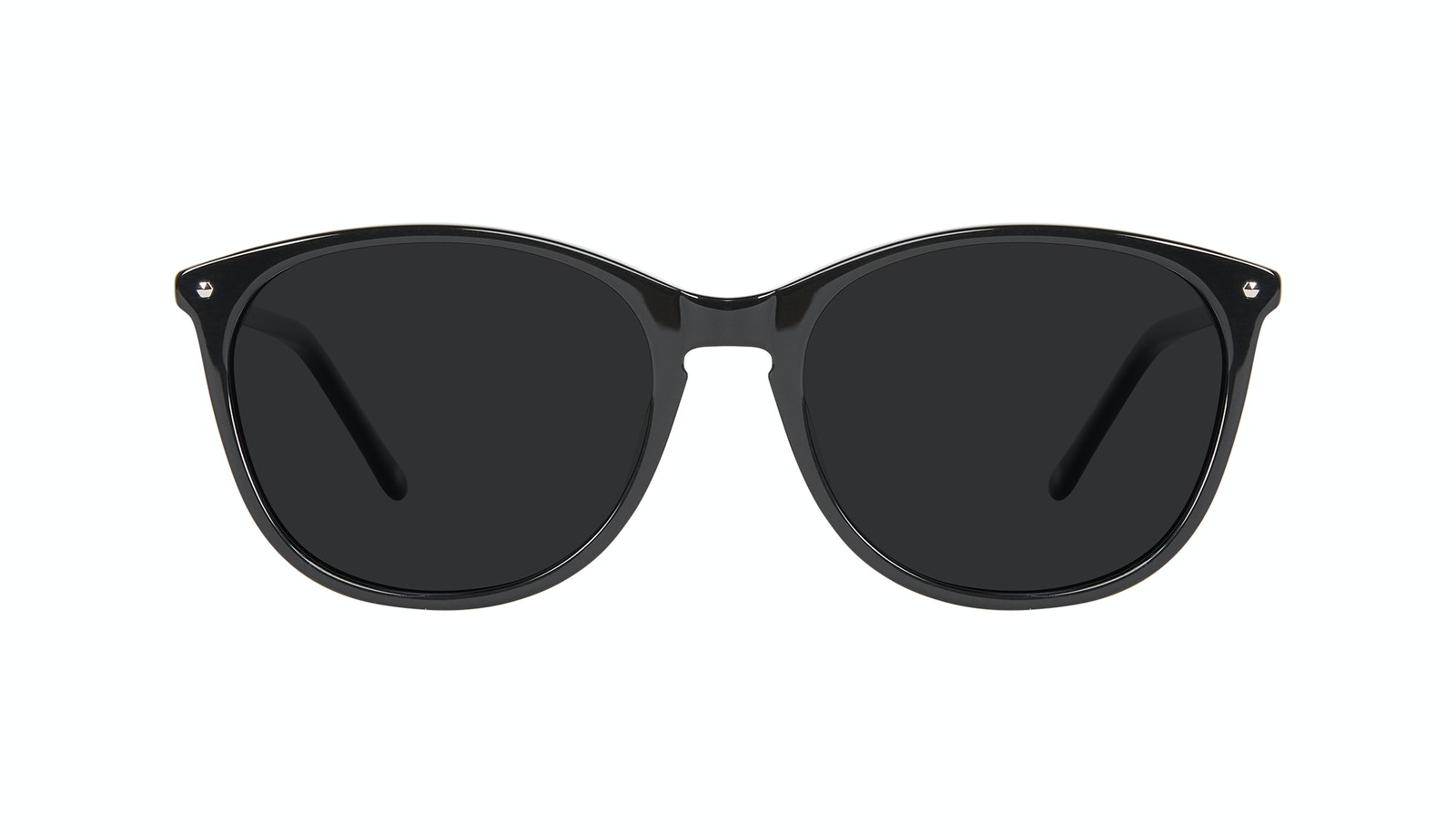 Affordable Fashion Glasses Rectangle Square Round Sunglasses Women Nadine Pitch Black