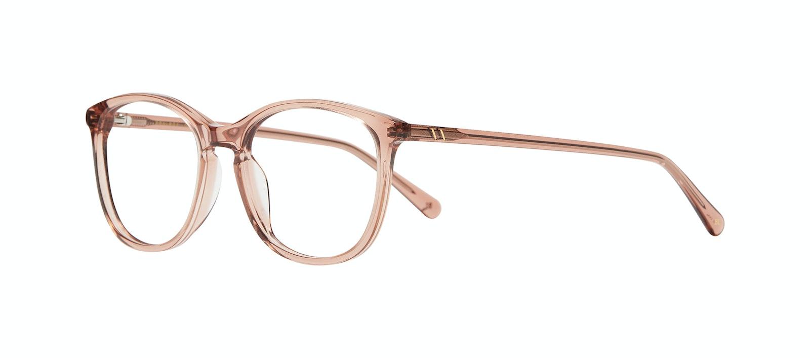 Affordable Fashion Glasses Rectangle Square Round Eyeglasses Women Nadine XL Rose Tilt