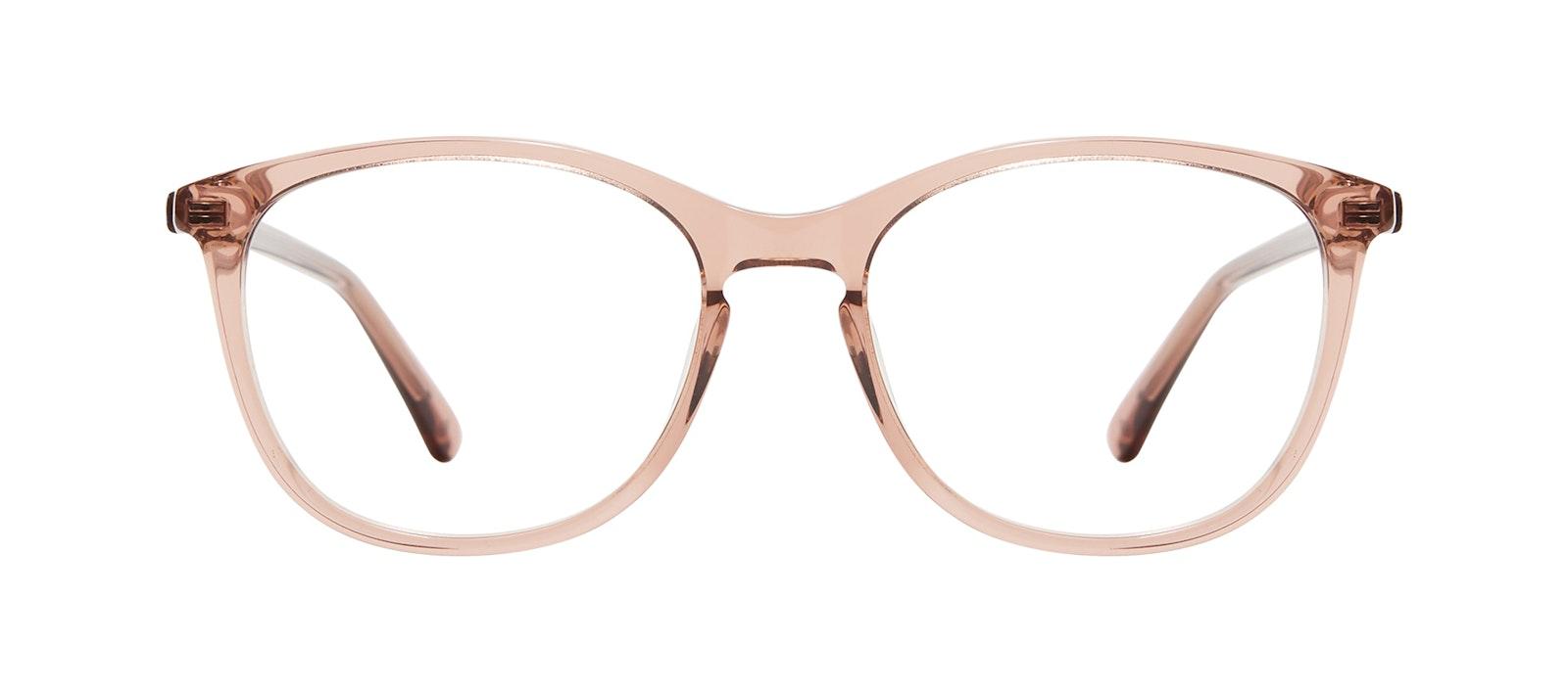 Affordable Fashion Glasses Rectangle Square Round Eyeglasses Women Nadine XL Rose Front