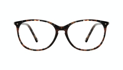 Affordable Fashion Glasses Rectangle Square Round Eyeglasses Women Nadine Sepia Front
