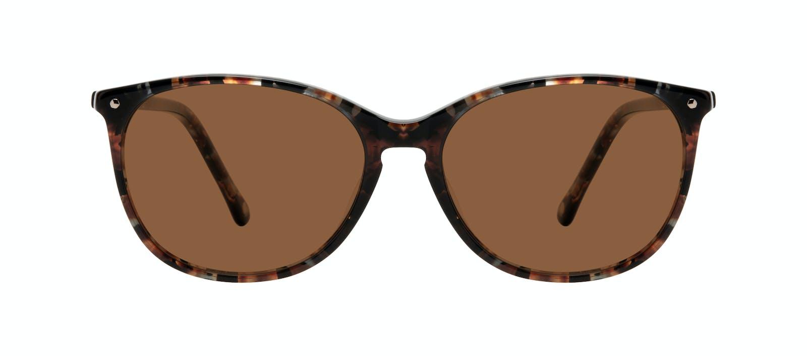 9dbe51b5f96 Affordable Fashion Glasses Rectangle Square Round Sunglasses Women Nadine  Sepia Front