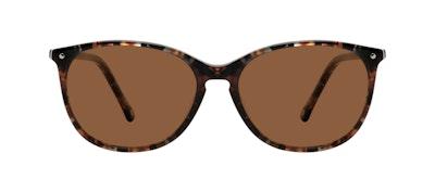 Affordable Fashion Glasses Rectangle Square Round Sunglasses Women Nadine Sepia Front