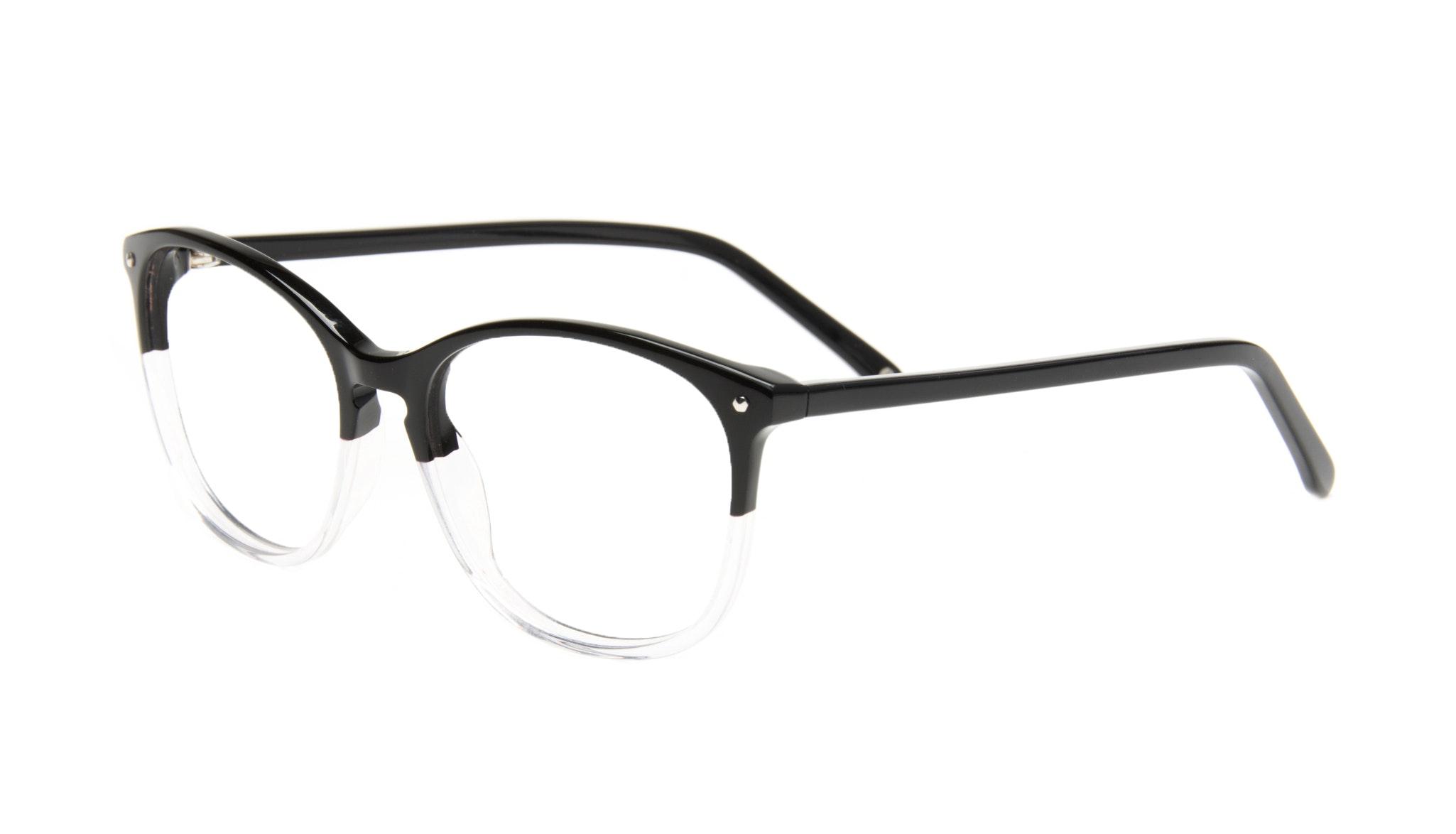 Affordable Fashion Glasses Rectangle Square Round Eyeglasses Women Nadine Two Tone Black Tilt