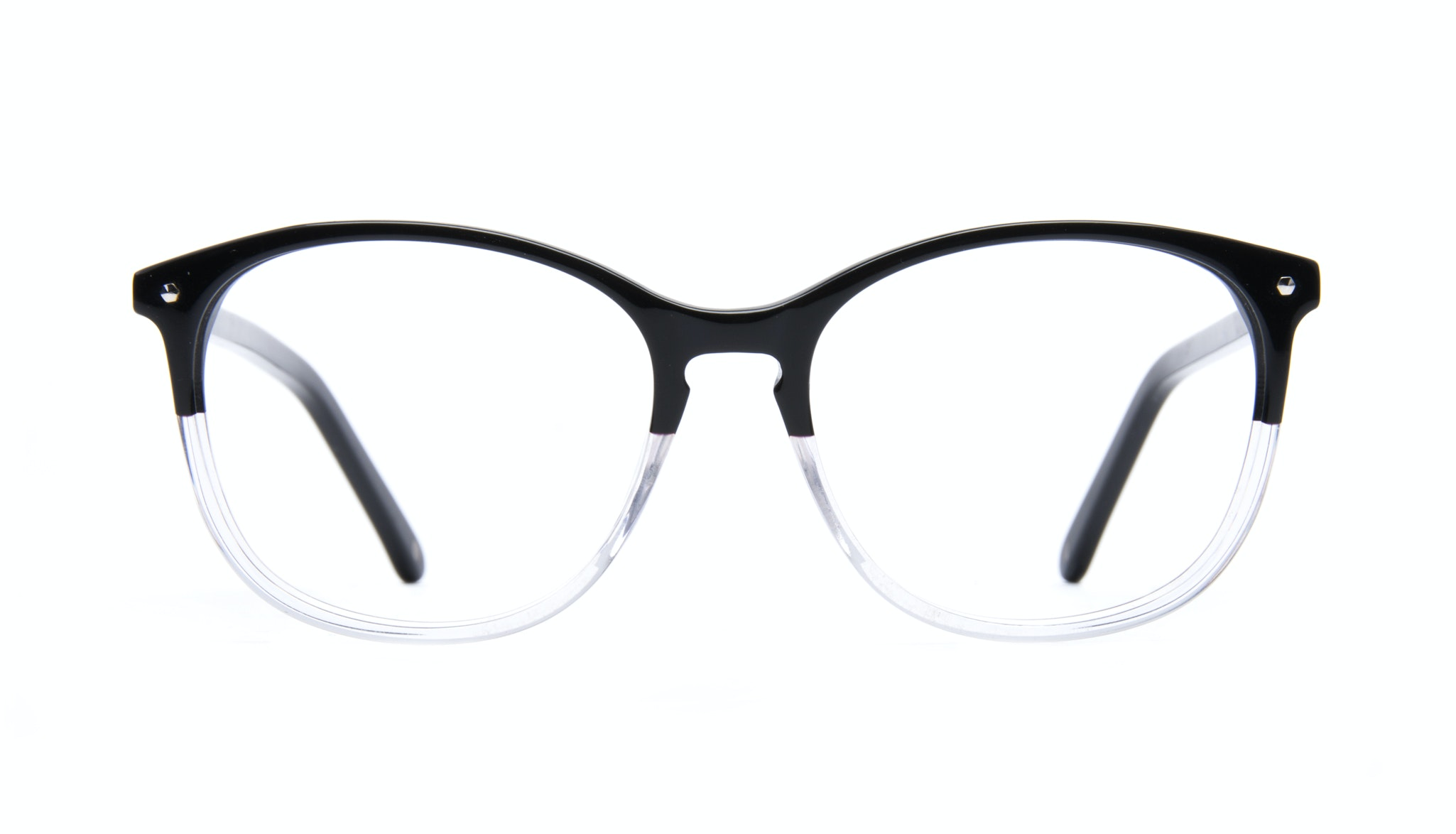 Affordable Fashion Glasses Rectangle Round Eyeglasses Women Nadine Two Tone Black