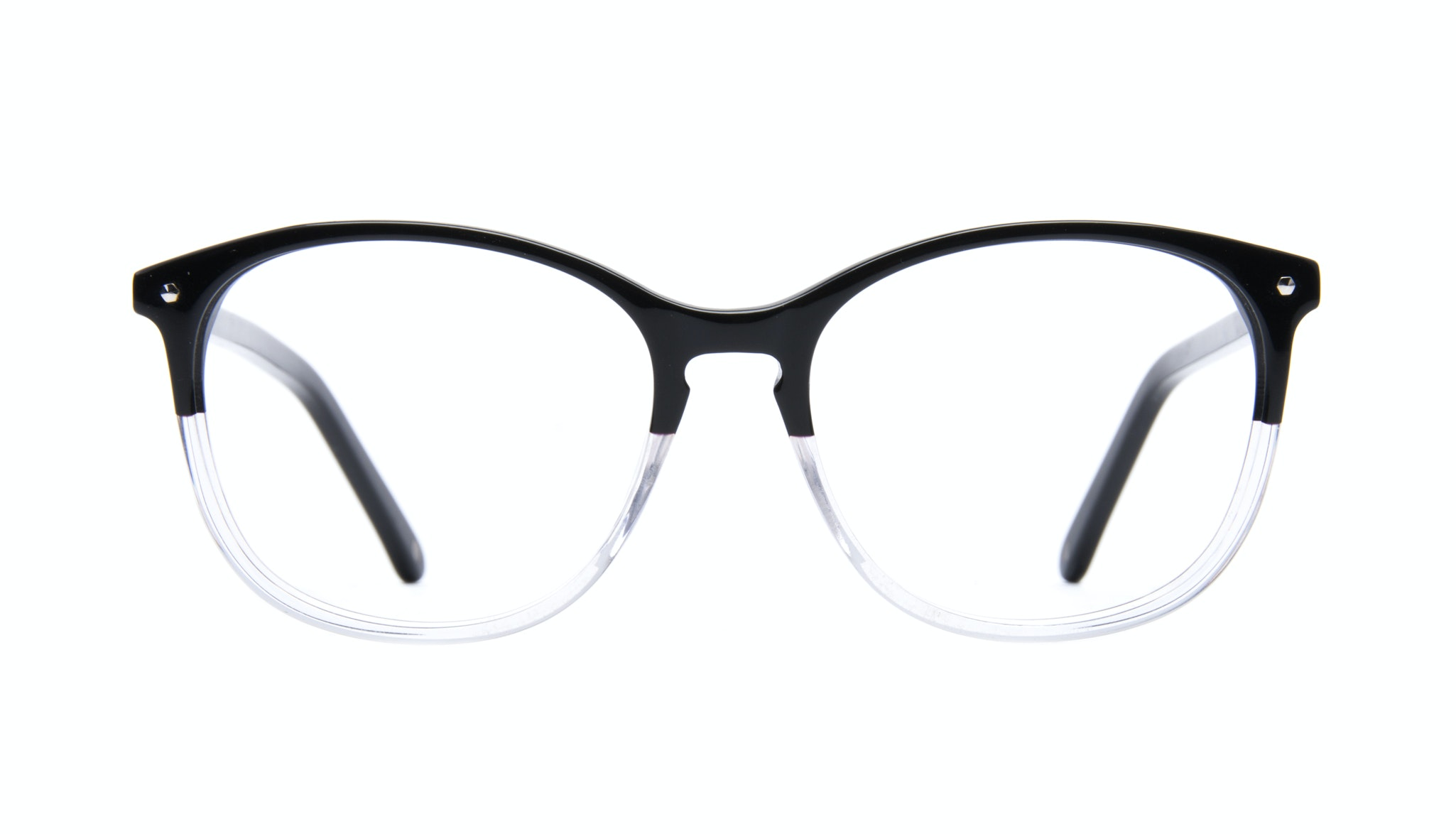 Affordable Fashion Glasses Rectangle Square Round Eyeglasses Women Nadine Two Tone Black