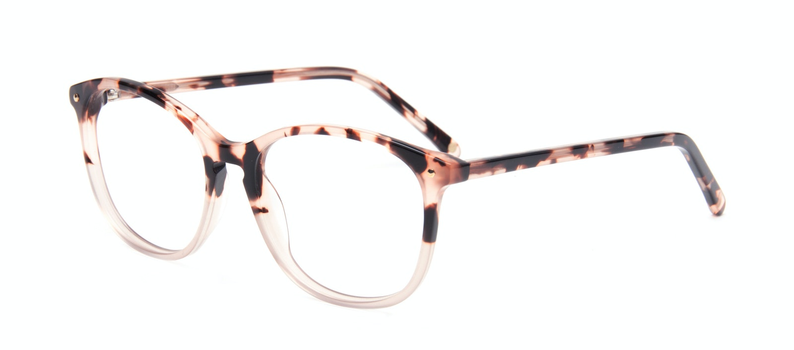 Affordable Fashion Glasses Round Eyeglasses Women Twist Two Tone Pink Tilt
