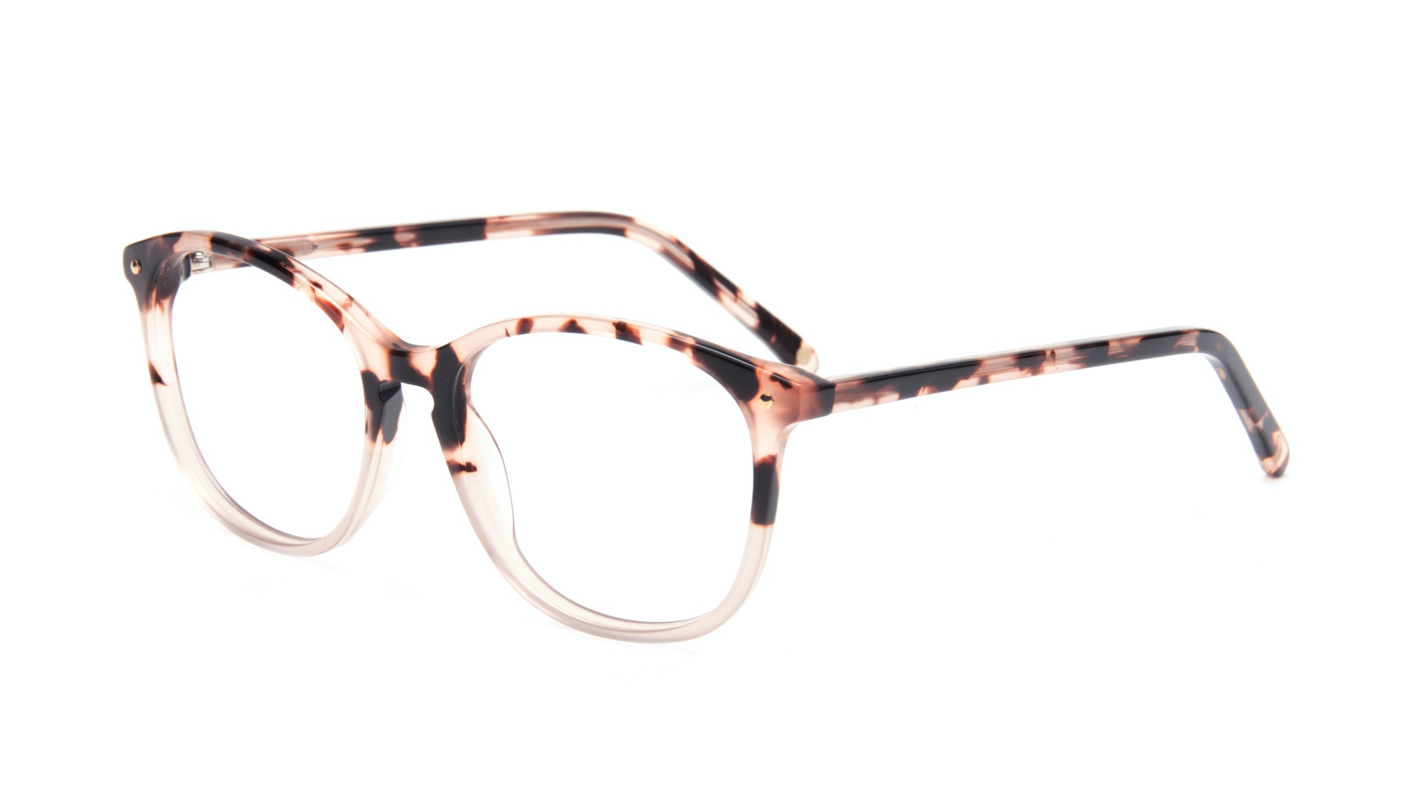Affordable Fashion Glasses Rectangle Square Round Eyeglasses Women Nadine Two Tone Pink Tilt