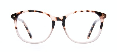 Affordable Fashion Glasses Round Eyeglasses Women Twist Two Tone Pink Front