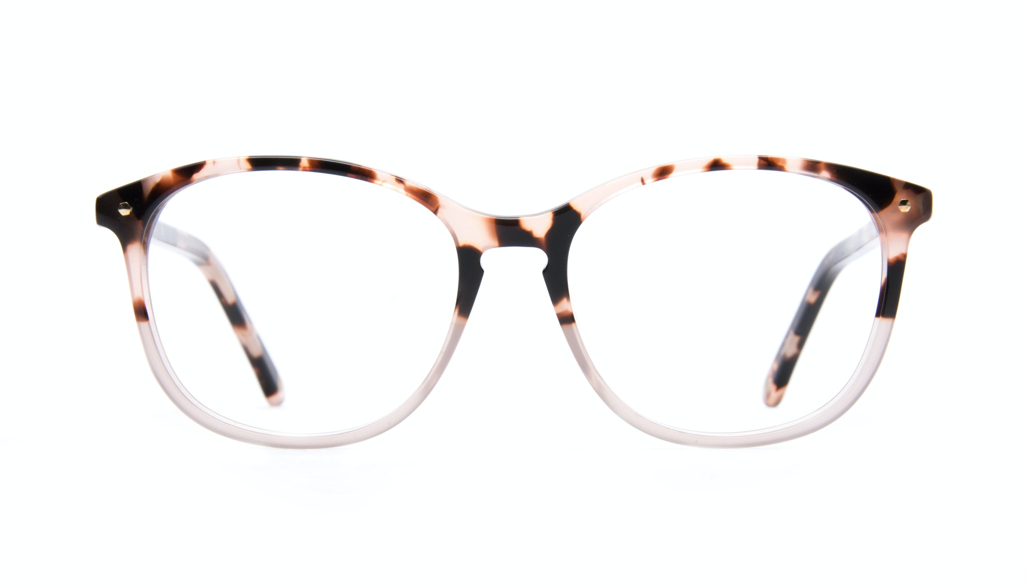 Affordable Fashion Glasses Rectangle Round Eyeglasses Women Nadine Two Tone Pink Front