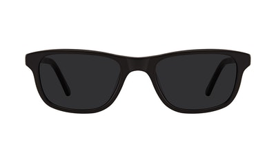 Affordable Fashion Glasses Rectangle Sunglasses Men Neat Matte Black Front