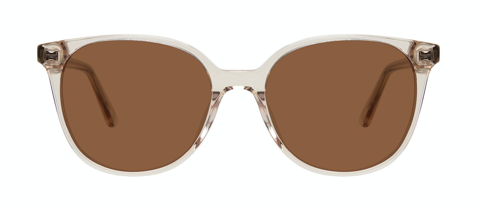 Affordable Fashion Glasses Square Sunglasses Women Novel Blond Front