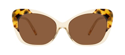 Affordable Fashion Glasses Cat Eye Sunglasses Women Obvious Golden Tort Front