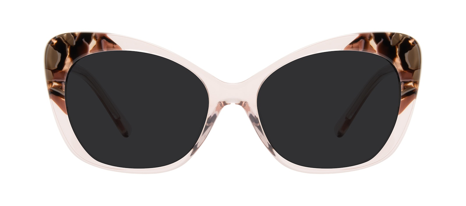 Affordable Fashion Glasses Cat Eye Sunglasses Women Obvious Pink Quartz Front