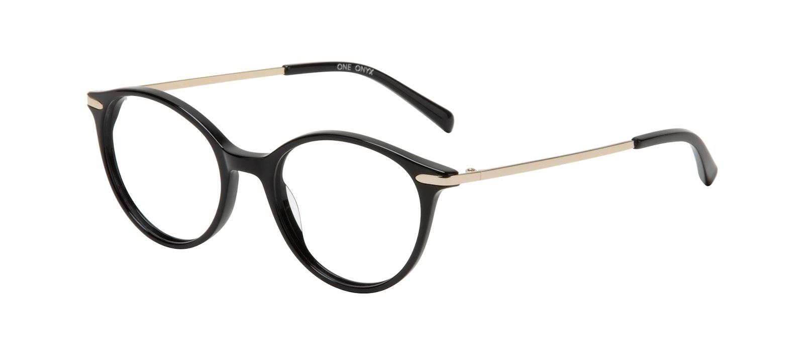 Affordable Fashion Glasses Round Eyeglasses Women One Onyx Tilt