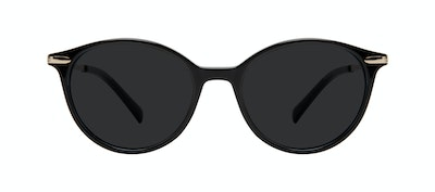 Affordable Fashion Glasses Round Sunglasses Women One Onyx Front