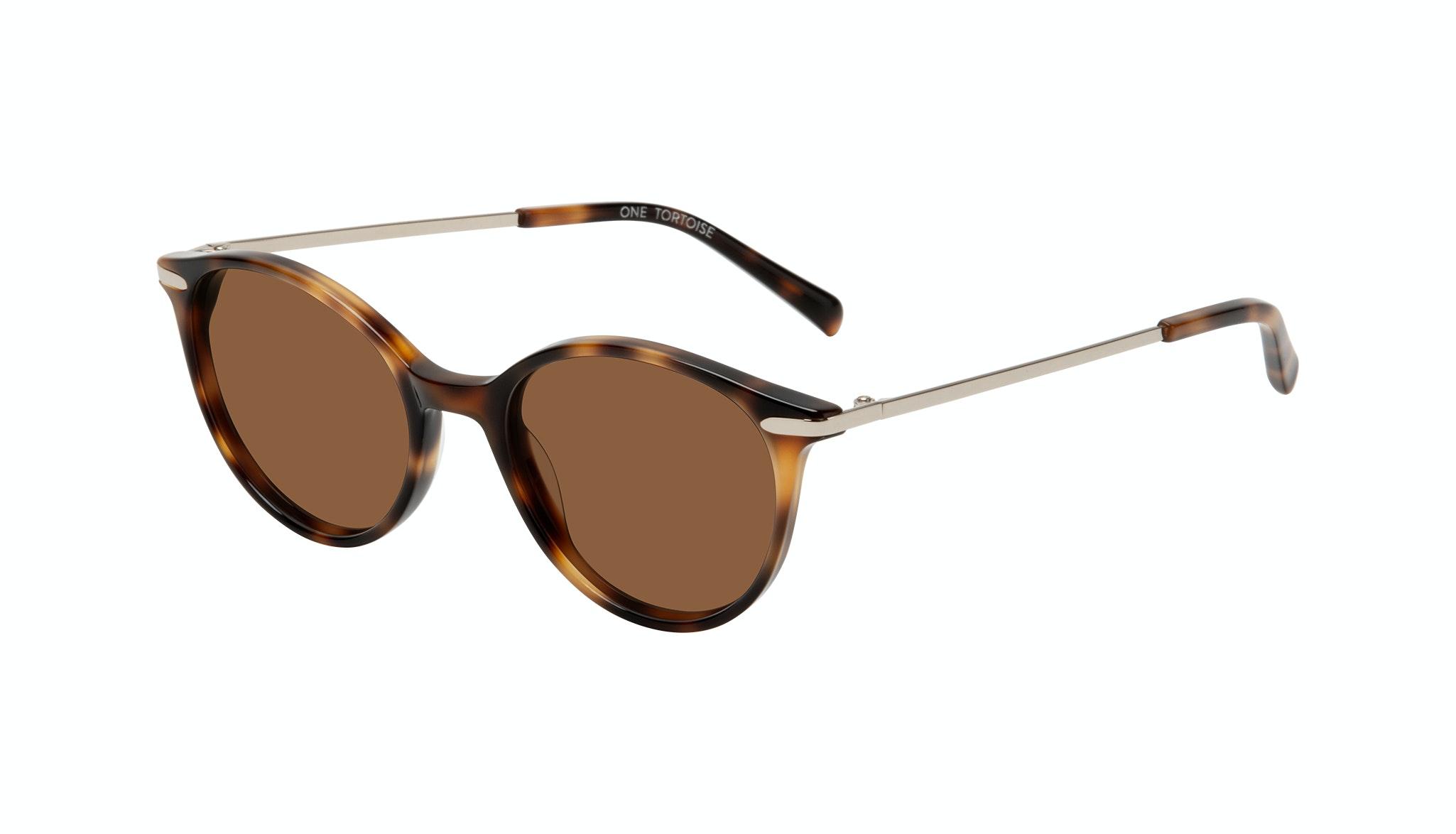 Affordable Fashion Glasses Round Sunglasses Women One Tortoise Tilt