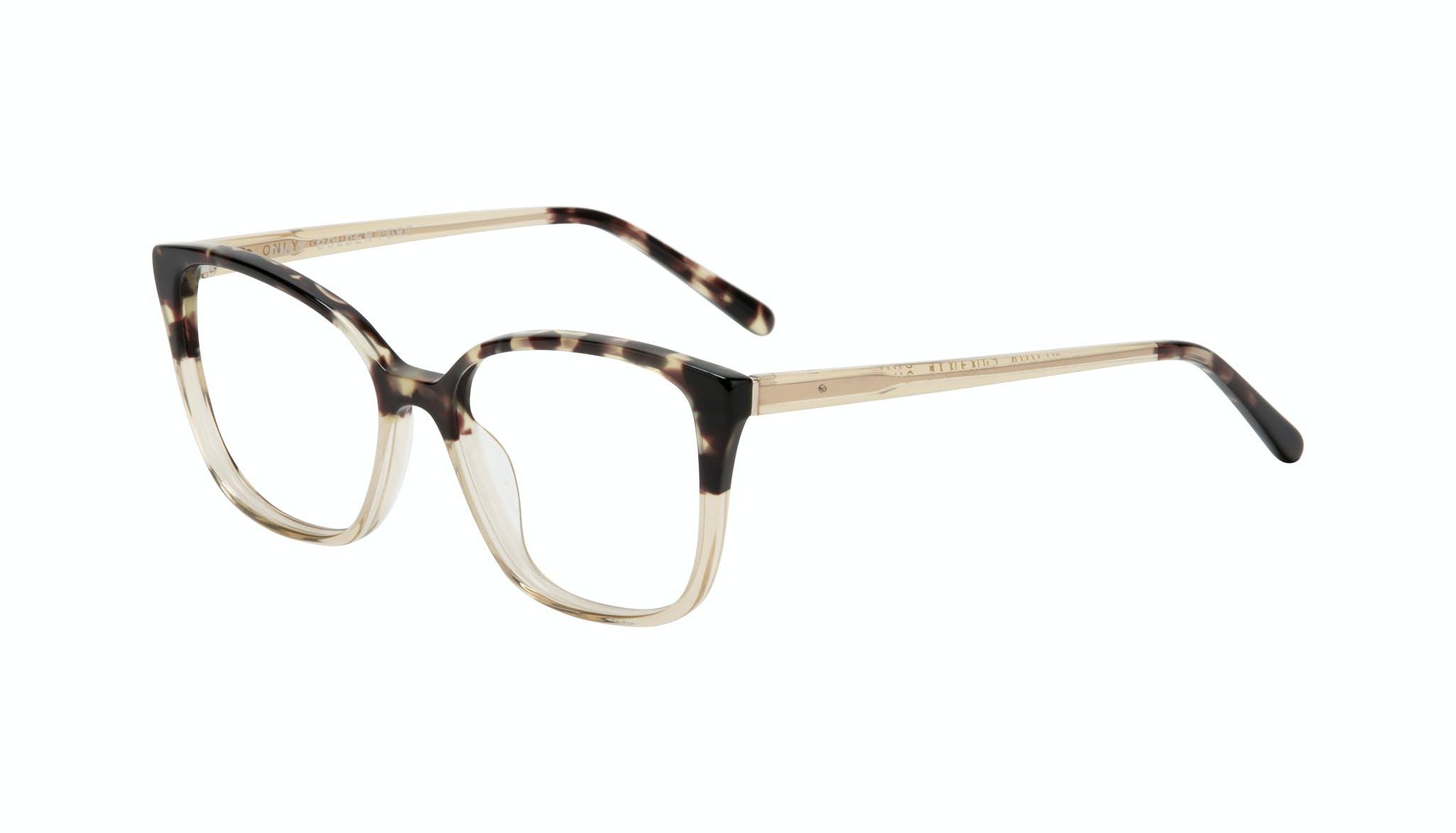 Affordable Fashion Glasses Square Eyeglasses Women Only Golden Tort Tilt