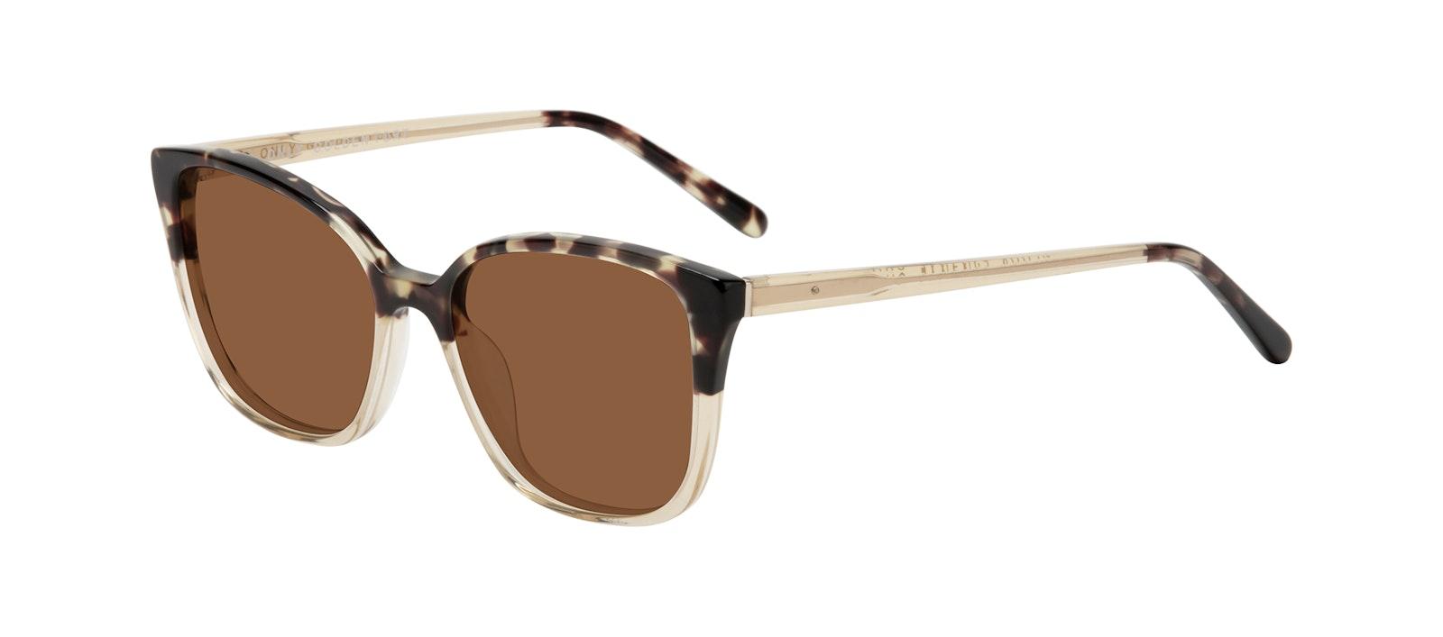 Affordable Fashion Glasses Square Sunglasses Women Only Golden Tort Tilt