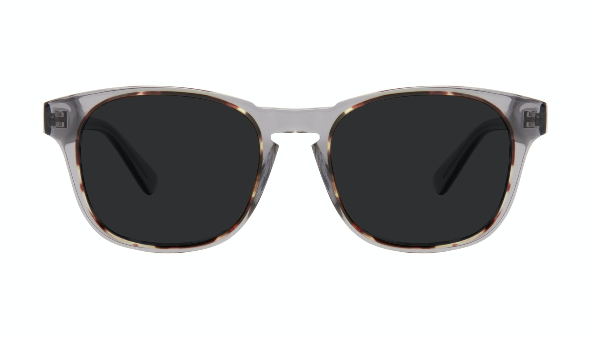 Affordable Fashion Glasses Square Sunglasses Men Outline Smokey Tort Front