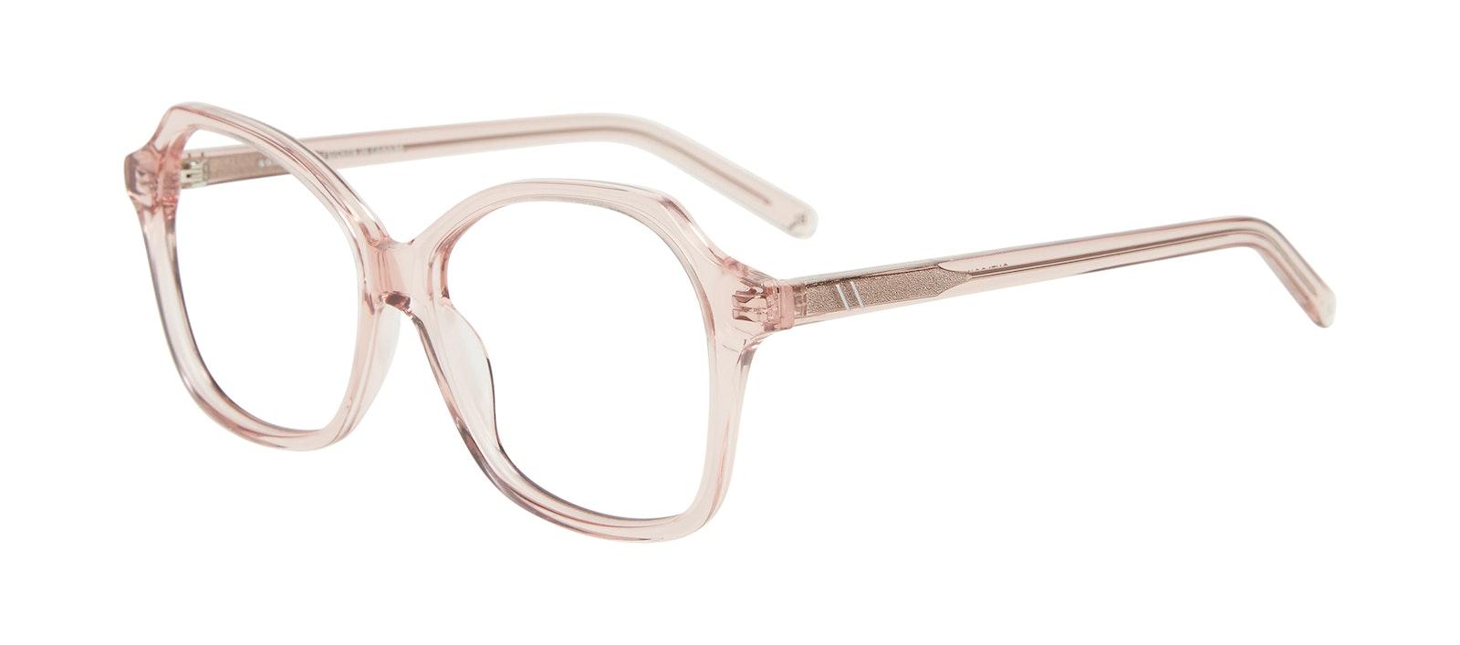 Lunettes tendance Carrée Lunettes de vue Femmes Outlook Pink Incliné