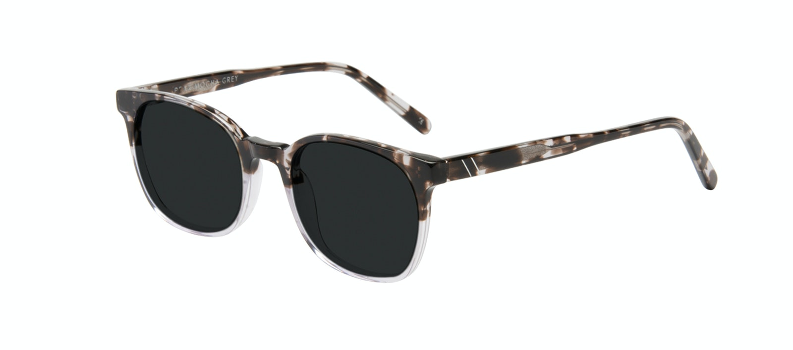 Affordable Fashion Glasses Rectangle Square Sunglasses Men Peak Mocha Grey Tilt