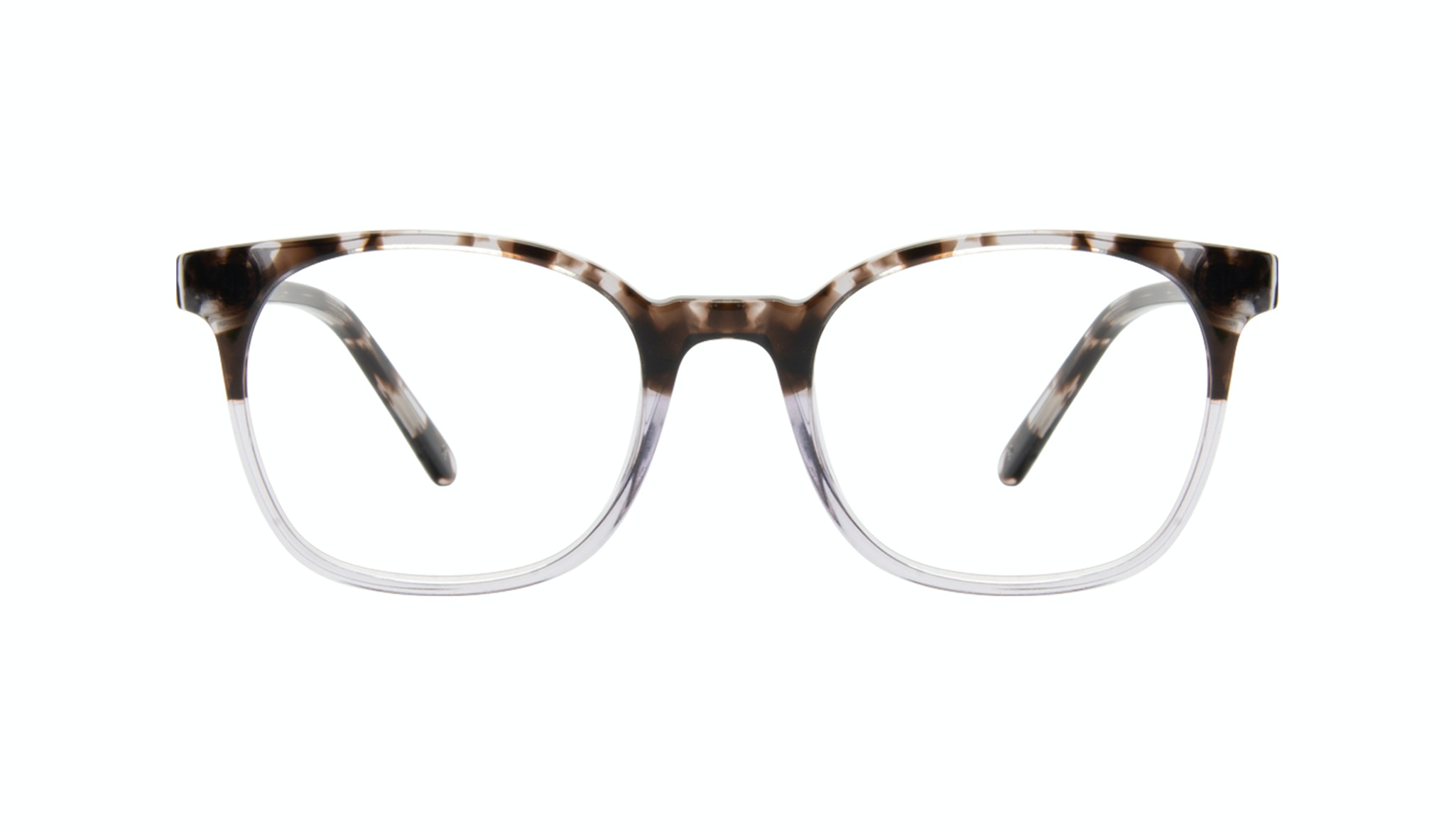 Affordable Fashion Glasses Rectangle Square Eyeglasses Men Peak Mocha Grey Front
