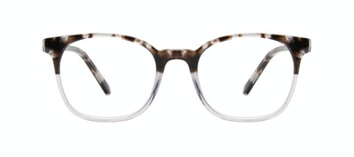 Affordable Fashion Glasses Rectangle Square Eyeglasses Men Peak Mocha Grey Front