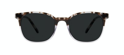 Affordable Fashion Glasses Rectangle Square Sunglasses Men Peak Mocha Grey Front