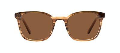 Affordable Fashion Glasses Rectangle Square Sunglasses Men Peak Wood Front