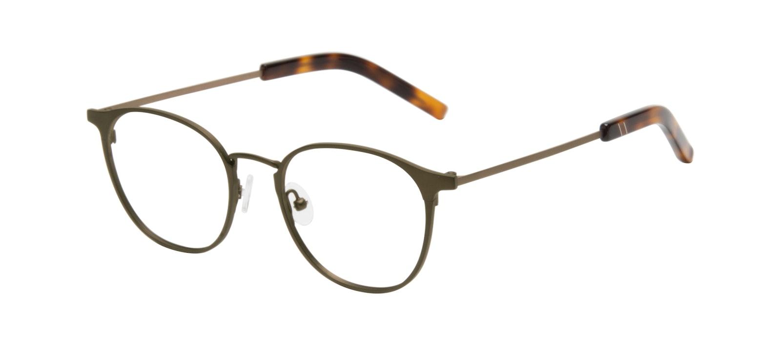 Affordable Fashion Glasses Round Eyeglasses Men Point Khaki Tilt
