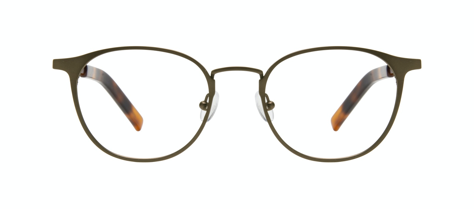 Affordable Fashion Glasses Round Eyeglasses Men Point Khaki Front