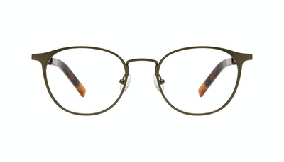 Affordable Fashion Glasses Round Eyeglasses Men Point Khaki Front