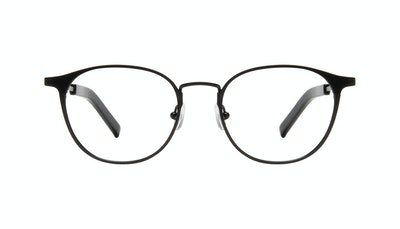 Affordable Fashion Glasses Round Eyeglasses Men Point Onyx Matte Front