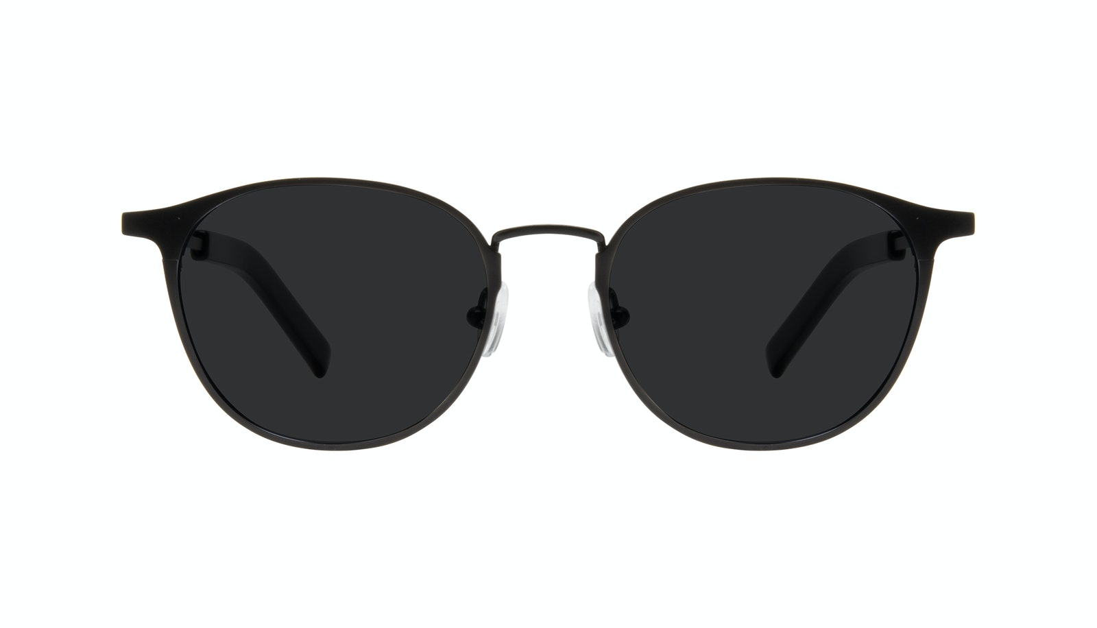 Affordable Fashion Glasses Round Sunglasses Men Point Onyx Matte