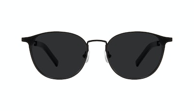 Affordable Fashion Glasses Round Sunglasses Men Point Onyx Matte Front