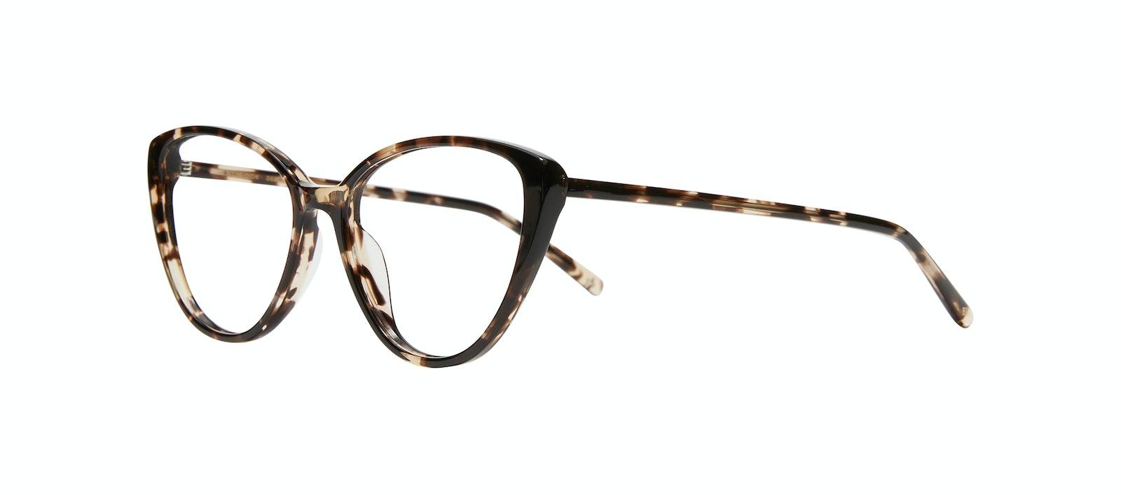 Lunettes tendance Oeil de chat Lunettes de vue Femmes Poise XS Leopard Incliné