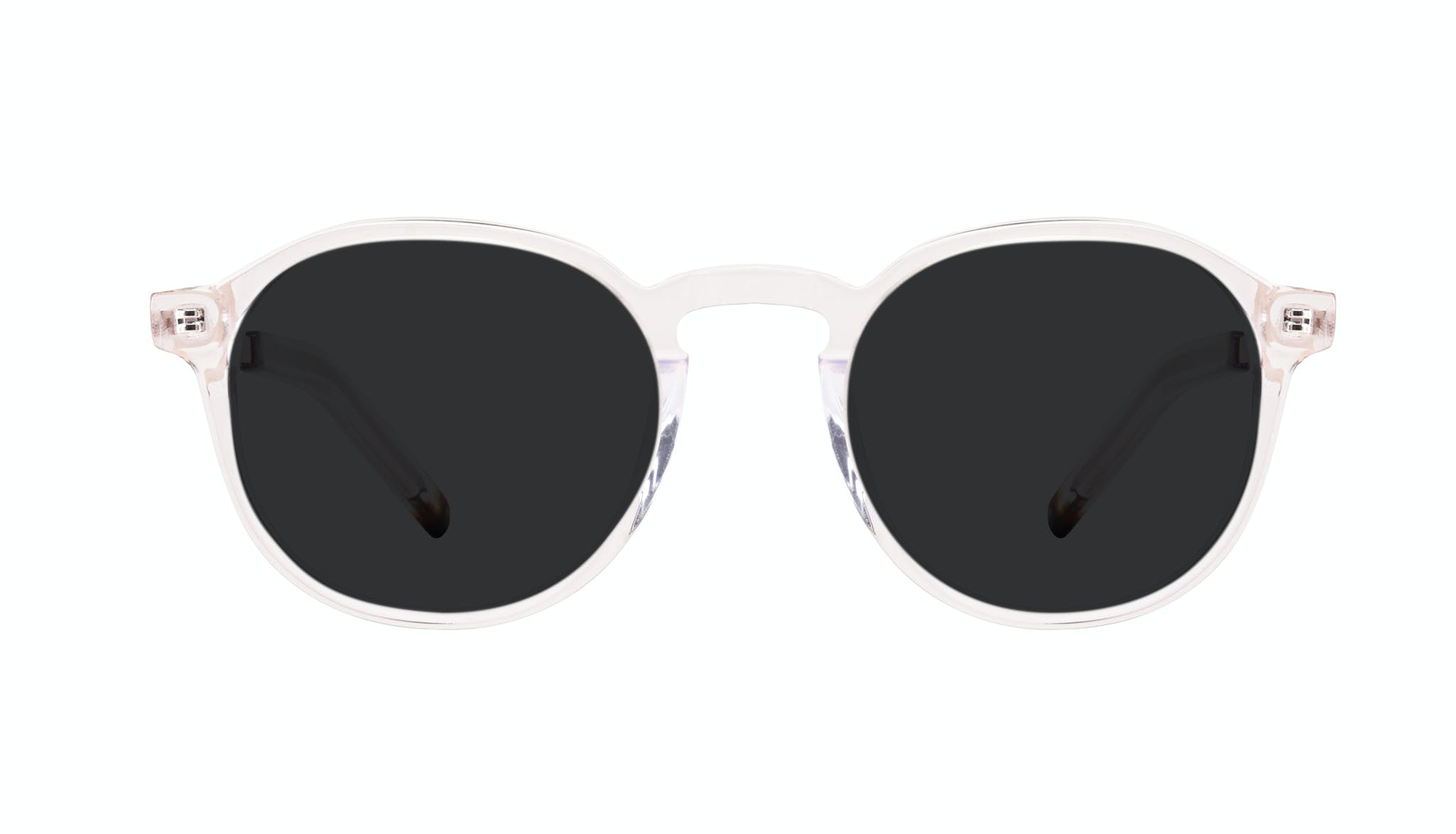 Affordable Fashion Glasses Round Sunglasses Men Prime XL Clear Front