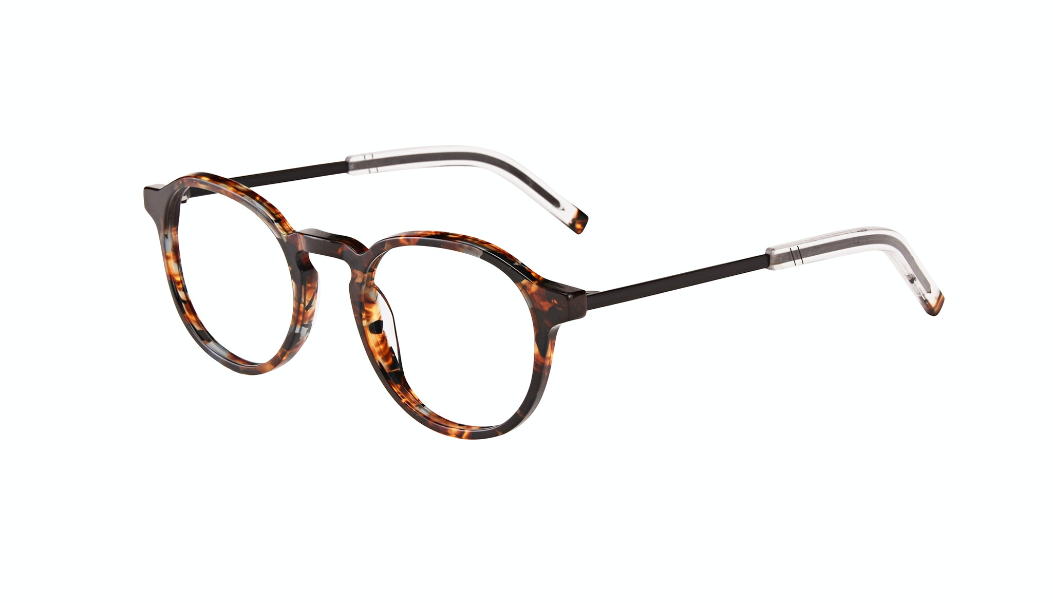 Affordable Fashion Glasses Round Eyeglasses Men Prime XL Mahogany Tilt