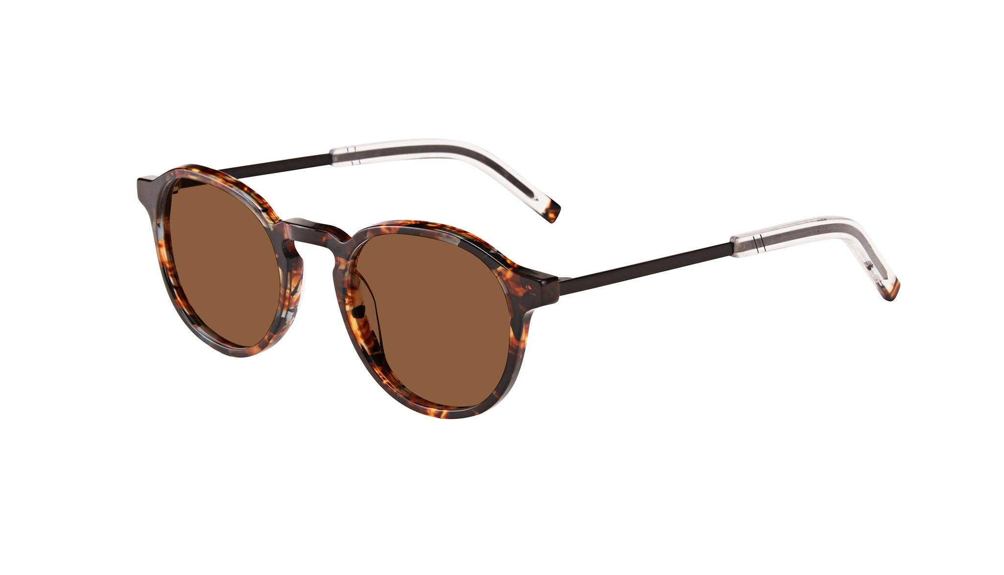 Affordable Fashion Glasses Round Sunglasses Men Prime XL Mahogany Tilt