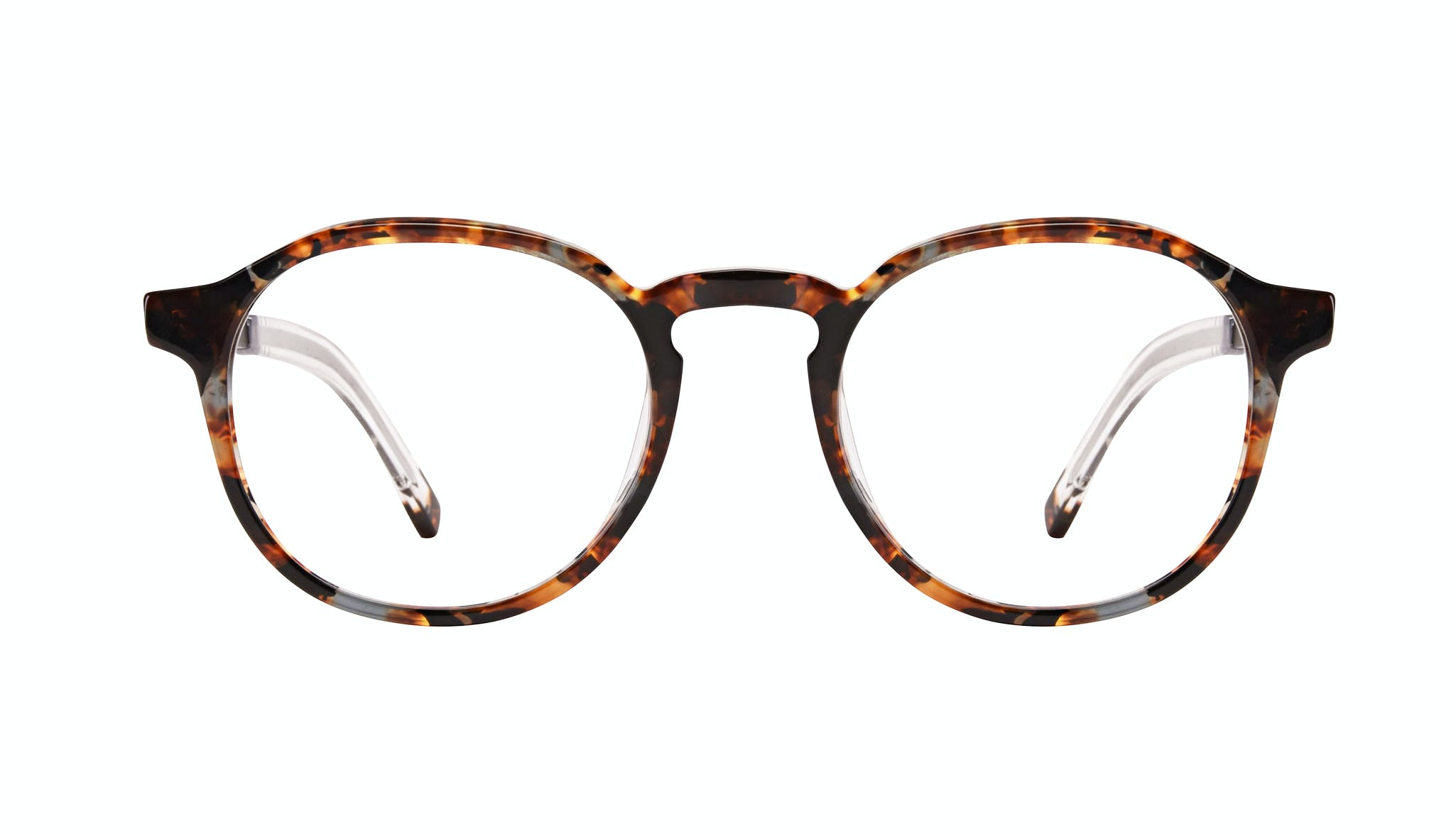 Affordable Fashion Glasses Round Eyeglasses Men Prime XL Mahogany Front