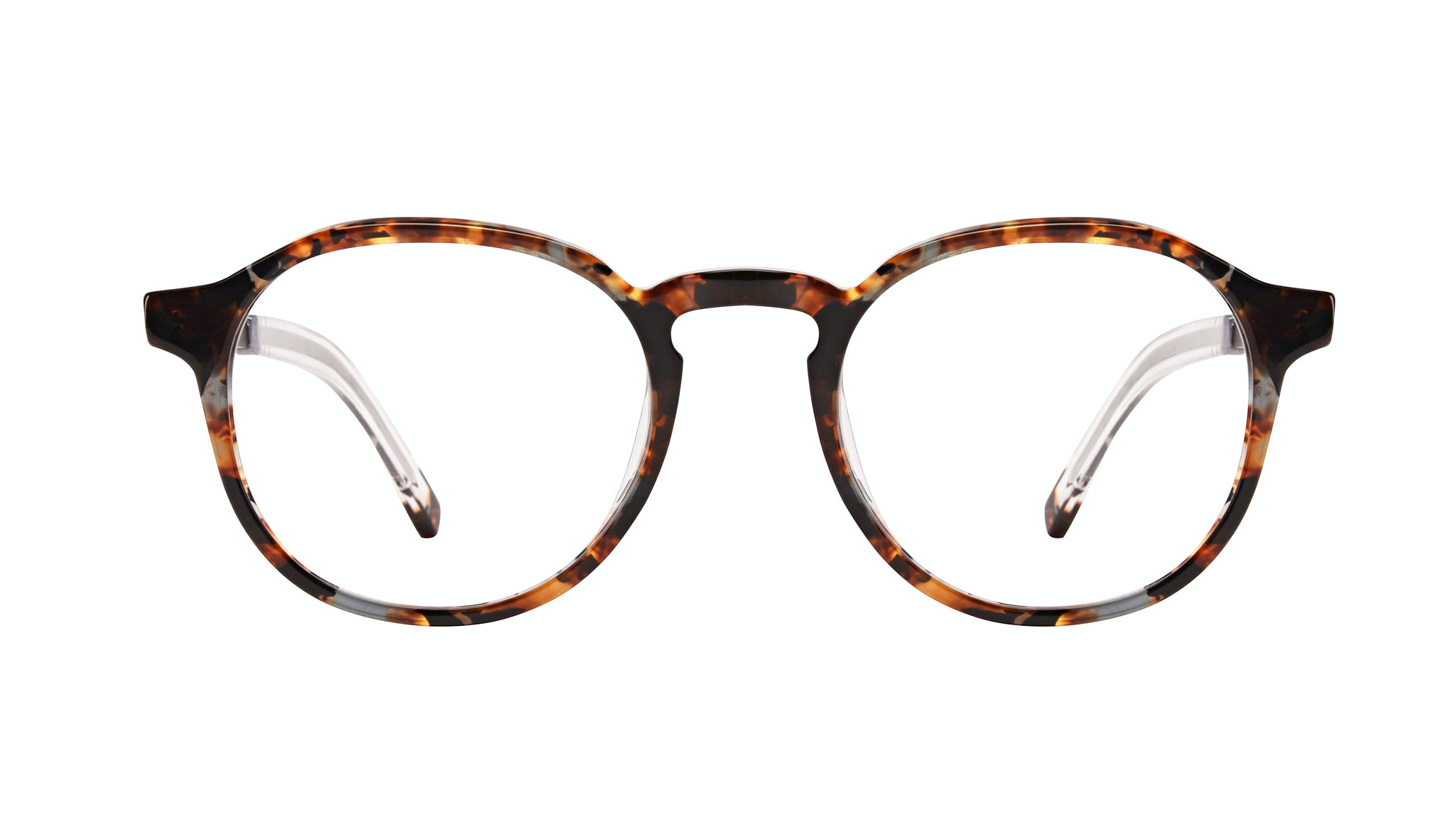 Affordable Fashion Glasses Round Eyeglasses Men Prime XL Mahogany Front