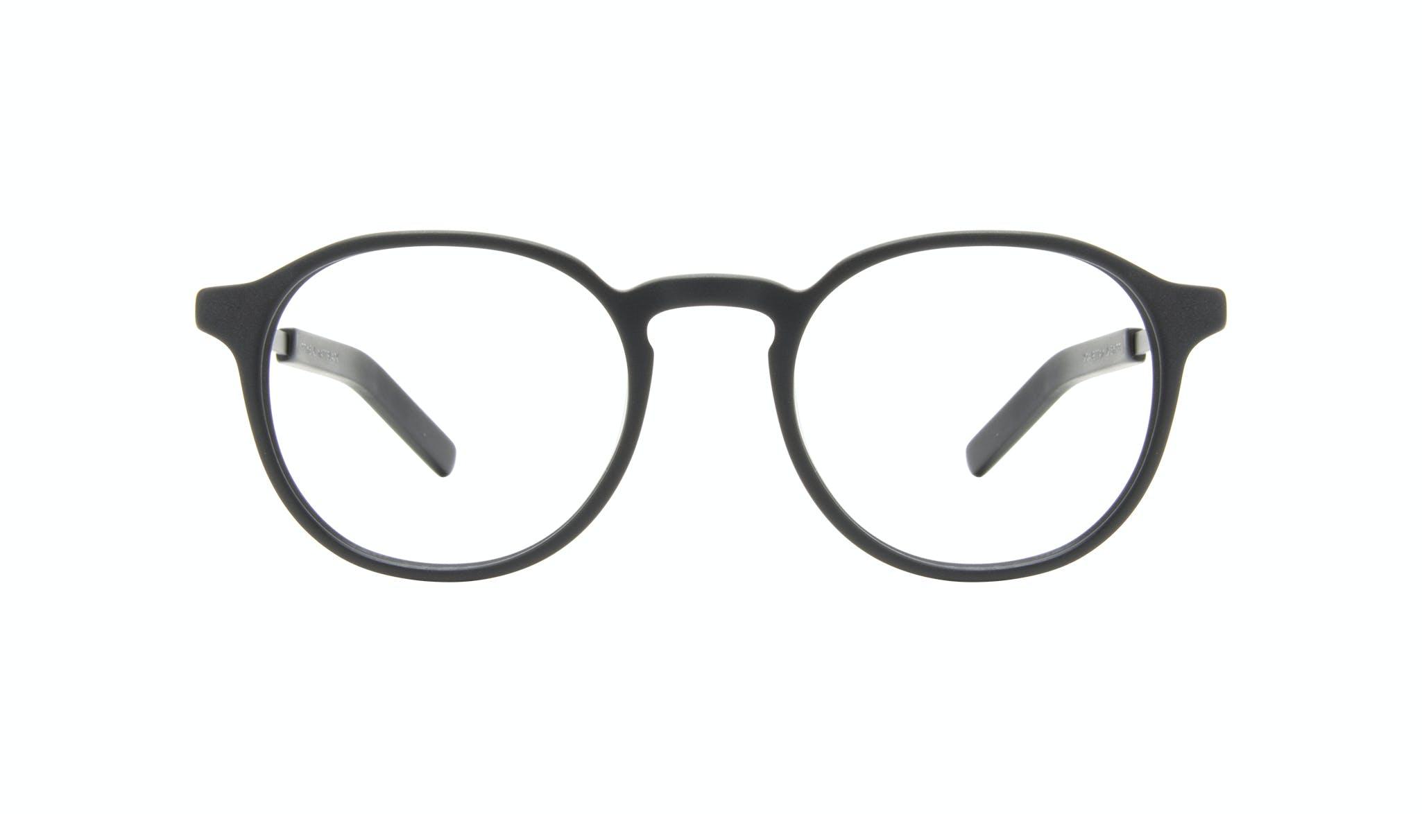 Affordable Fashion Glasses Round Eyeglasses Men Prime XL Matte Black Front