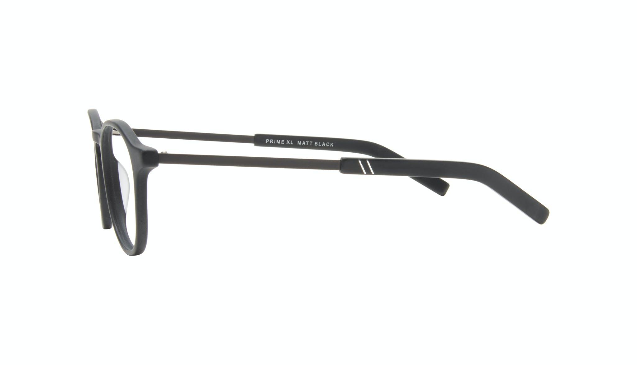 Affordable Fashion Glasses Round Eyeglasses Men Prime XL Matte Black Side