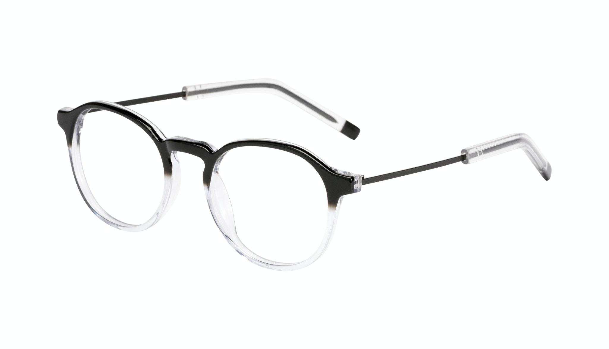Affordable Fashion Glasses Round Eyeglasses Men Prime Onyx Clear Tilt