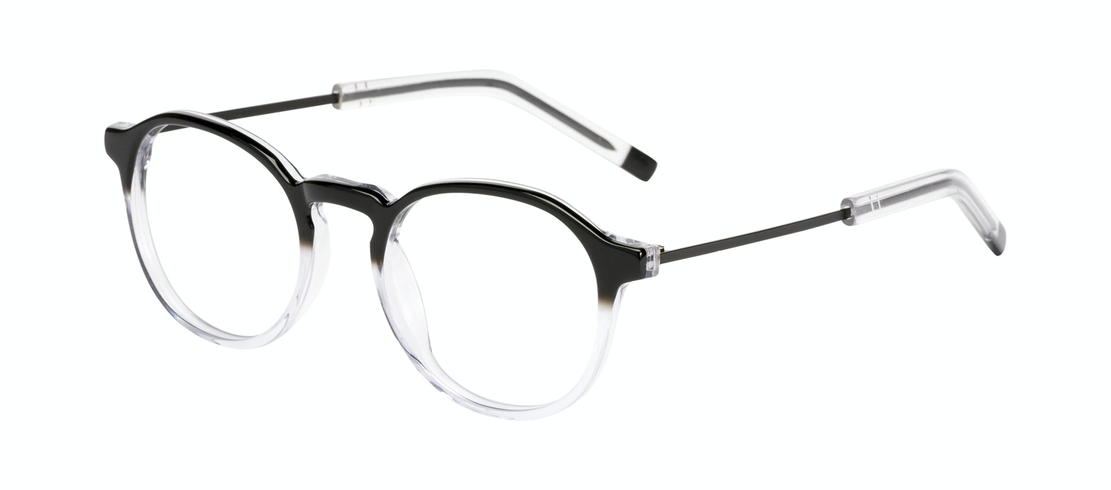 Affordable Fashion Glasses Round Eyeglasses Men Prime Onyx Clear Tilt