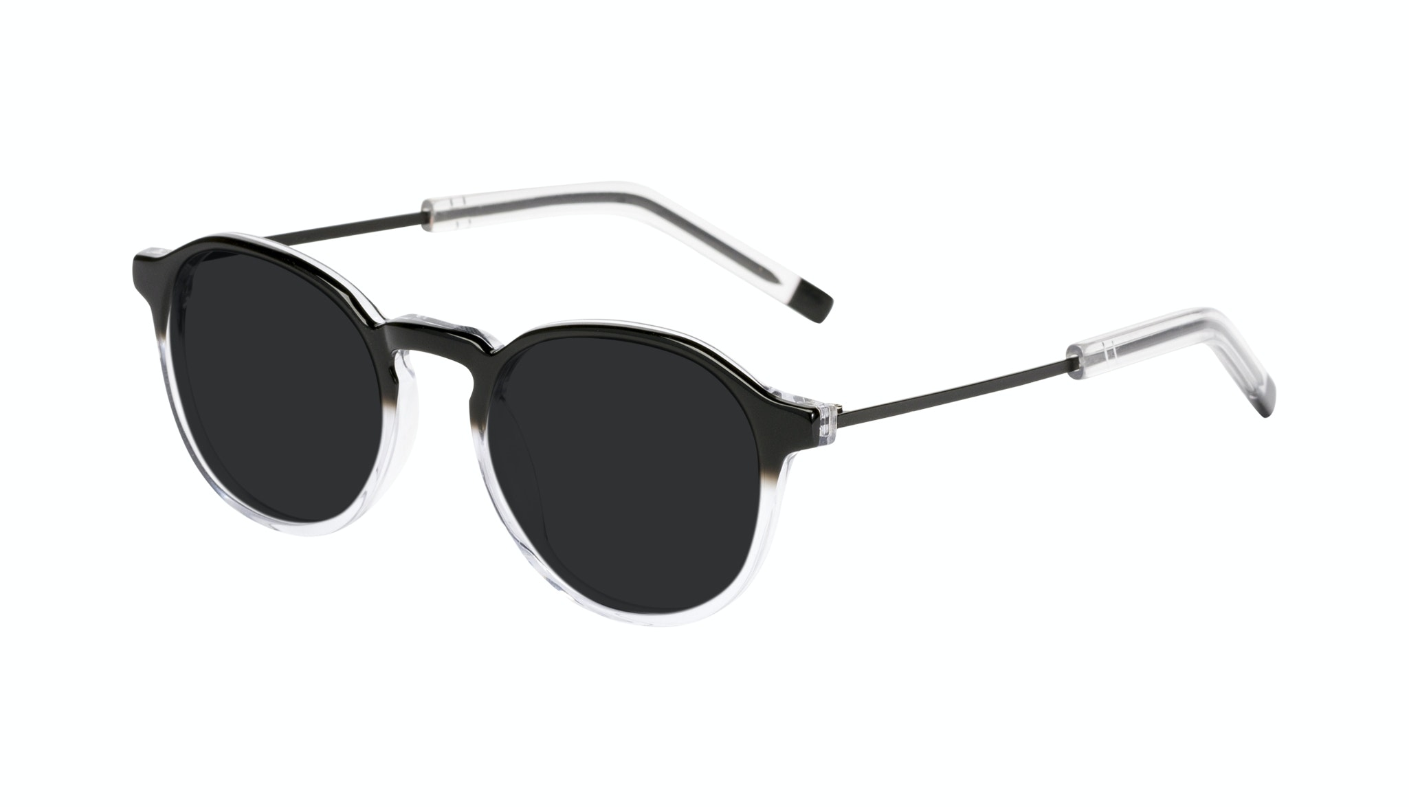 Affordable Fashion Glasses Round Sunglasses Men Prime Onyx Clear Tilt