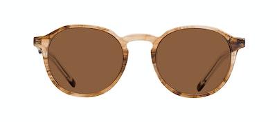 Affordable Fashion Glasses Round Sunglasses Men Prime Smokey Havana Front